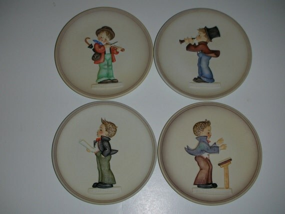 Hummel Little Music Makers Collector Plates Series Of Four 4