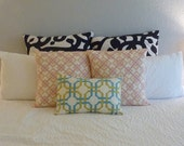 "Decorative Pillows Cover- Waverly 'Groovy Grille' - Pillow Covers 12"" x 18"""