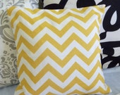 Decorative Pillows Cover- Premier Prints- ZigZag Yellow -  ONE 16x16