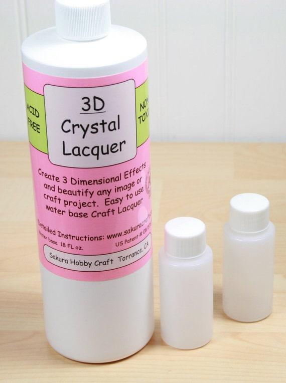 3D Crystal Lacquer, 1 oz sampler bottle