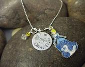 Custom Hand Stamped Cinderella Princess Charm Necklace