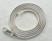 18 inch 2mm Solid Italian 925 Sterling Silver Round Snake Chain