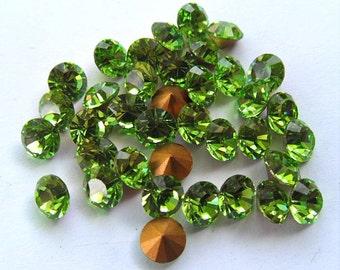 36 Swarovski 26ss Peridot round Rhinestones-Loose Rhinestones-Bulk Rhinestones-Wholesale Rhinestones-Loose Crystals