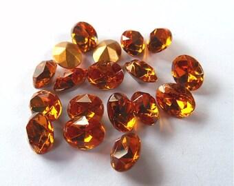 18 Topaz Swarovski 8x6mm Oval Rhinestones-Loose Rhinestones-Bulk Rhinestones-Wholesale Rhinestones-Loose Crystals