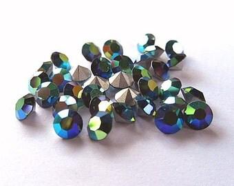 36 Green Turmaline AB 24ss Swarovski Round rhinestones-Loose Rhinestones-Bulk Rhinestones-Wholesale Rhinestones-Loose Crystals