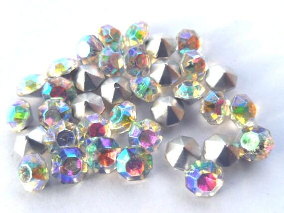 36 Precosia Crystal AB 28ss Round Rhinestones