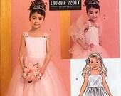 Butterick B4720 Sz CL (6,7,8) Girls Dresses, Petticoats & Wrap Designed by I.Lauren Scott