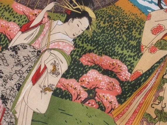 Knitting Needles or Brushes Rollup Organizer Japanese print