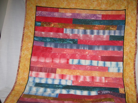 1600 inspired quilt  small version, galaxy quilt, hand dyed, batik, throw quilt, lap quilt, wall hanging, table topper