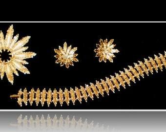 Vintage Avon Starflower Jewelry Set