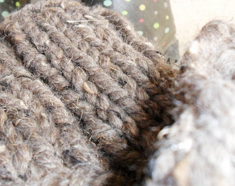 Boot Cuffs Light Brown Barley Hand Knit Boot Cuff