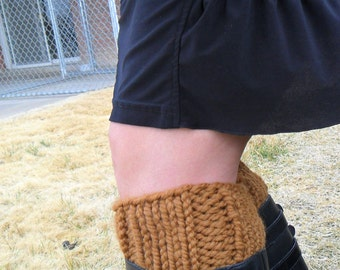 Boot Cuffs in Golden Brown