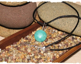 Pendant - Blue Magnesite and Sterling Silver