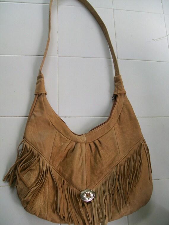 Beautiful Vintage Leather Fringe Native American/Country-Western Spirit  Bag