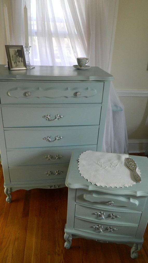 Vintage French Dresser and Night Table (Set)