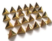 50 Gold Triangle Pyramid Studs, 15mm for Clothing, Leather DIY