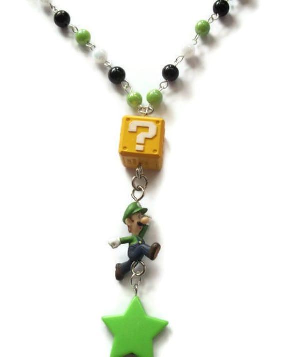 Luigi Necklace, Gaming, Nintendo, Green Star