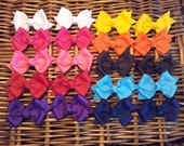 20 Small Classic Pigtail Bows--you CHOOSE colors--you SAVE 4 dollars off regular price--getting 2 bows FREE