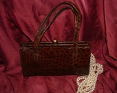 Mayer's of New York  Alligator / Crocodile 1950s Handbag