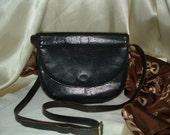 Dark Chocolate Brown Italian Leather Cross Body Bag