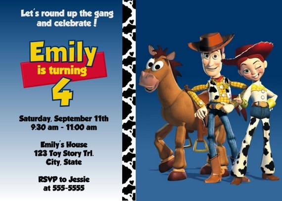 Toy Story Invite as great invitations template