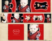 Christmas 3x3 mini accordion album layered PSD WHCC album templates - B897