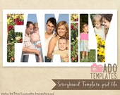 Family Storyboard Template 10x20 Alphabet Storyboard Photoshop Templates for Photographers