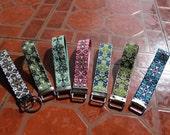 Custom Ribbon Wristlet Keychains