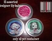 15 assorted designer lip balms