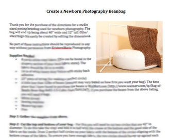 Pattern for Newborn Photography Posing Beanbag - DIY