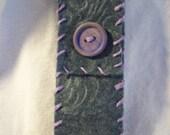 Lip-Sticky Pocket - Lip Gloss case in Textured Gray Felt and Lavender hemp