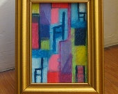 Original ACEO Three Chair Abstract