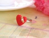 Broken Heart Ring Polymer Clay