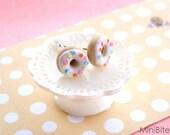 Pastel Donut Stud Earrings