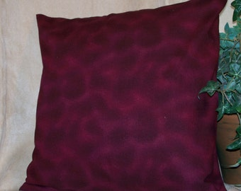 "SALE 14"" x 14"" Burgundy Heather Decorative Pillow Cover"
