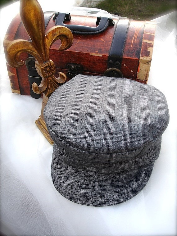 grey plaid train hats, conductor hats for boys, grey plaid train hats for boys, thomas the tank train hat
