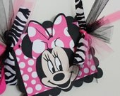 Minnie Mouse Name Banner // Minnie Birthday Party // Minnie Mouse Decorations // Banner // Hot Pink // Pink // Zebra