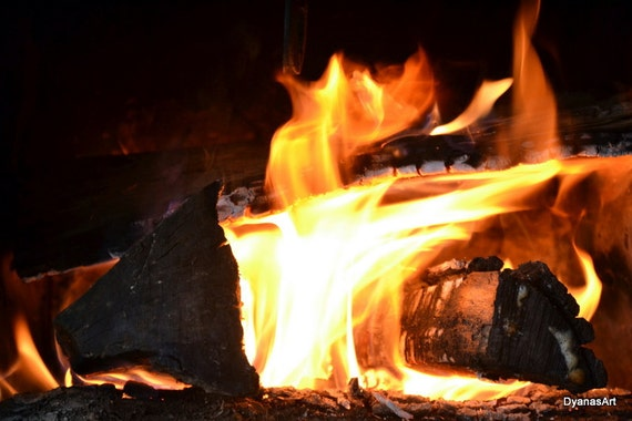 Crackling Fire 11x14 Photo
