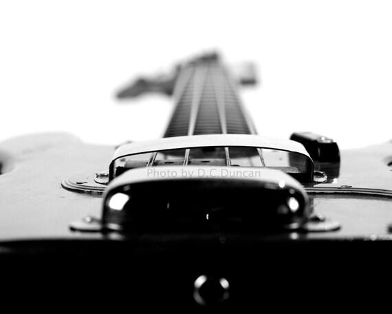 "Fender Precision Bass print  16"" x 20"" bass guitar print"