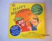 Vintage Golden Records Birthday Party Kit, Pin the Tail on the Donkey