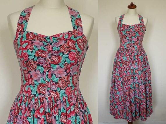 Vintage Dress // Sun Dress // Floral LAURA ASHLEY (medium)