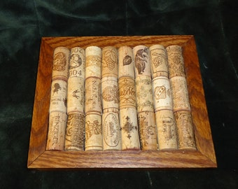 Handmade  Oak, Walnut, and cork trivet