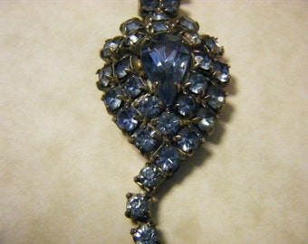 Blue Rhinestone Necklace Vintage