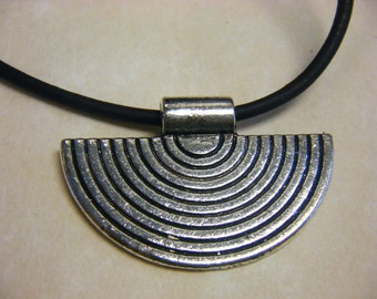 Necklace Tribal Pewter Pendant