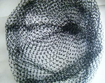 Vintage Veil 60s Black Bee Keeper