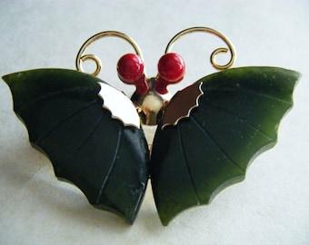 BROOCH Vintage Butterfly Goldtone Pin