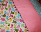 CREATE YOUR OWN Toddler Girl Birds Reversible Comforter and Pillow Case