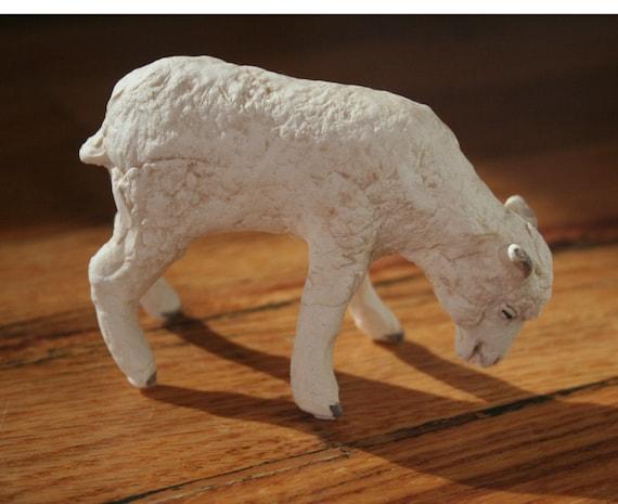 Handmade Porcelain Lamb Figurine