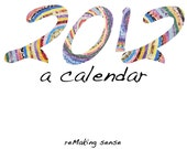 2012 Wall Calendar featuring Seasonal Paper Mosaics and Mandalas