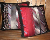 Tie Pillow Covers Decorative Upcycled From Your Favorite Ties  Free Shipping!